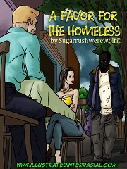 A Favor For The Homeless- [Illustrated Interracial]