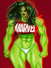 Green With Lust Hulk- [By SuperPoser]