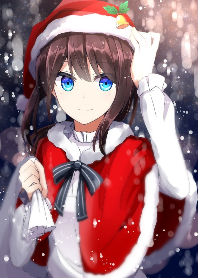 Christmas Themed Japanese Moe Artwork 50