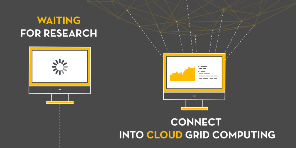 Connect into Cloud Grid Computing