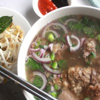 Saigon-style beef pho (phở nam) noodle soup