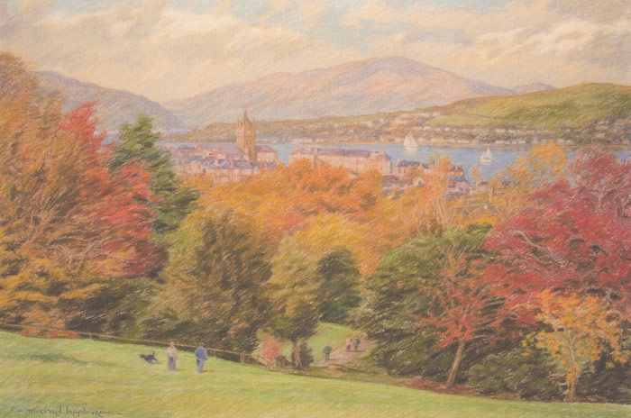 Scottish autumn landscape (Darroch Park, Gourock)