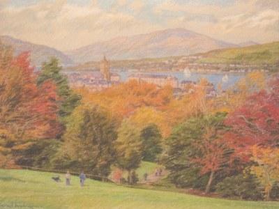 Scottish autumn landscape (Darroch Park, Gourock)