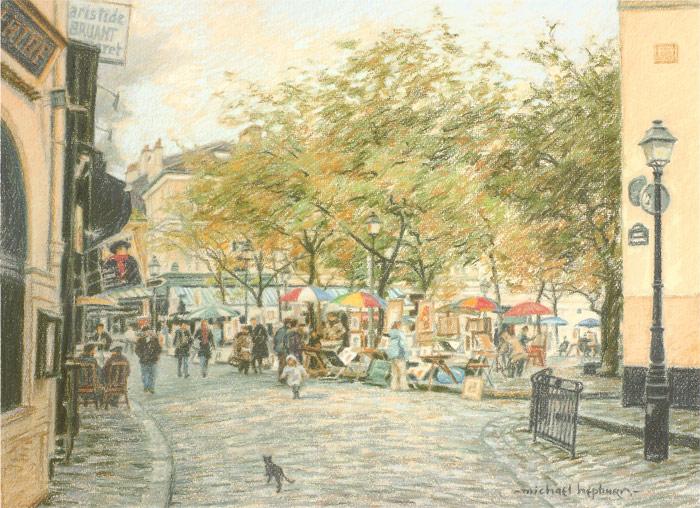 Place du Tertre, Montmarte (Paris art market)