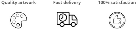 Quality artwork, Fast delivery and 100% satisfaction.