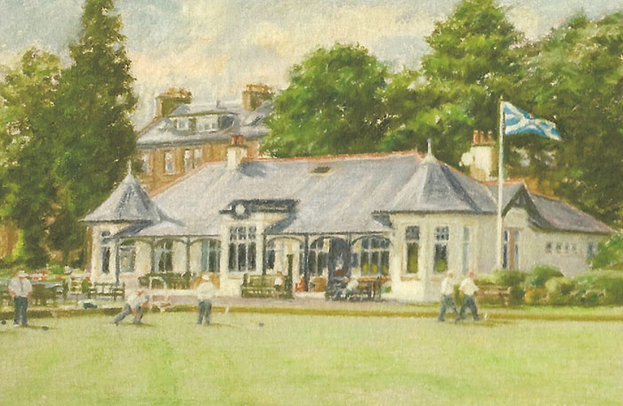 Detail of the Ardgowan Bowling Club clubhouse.
