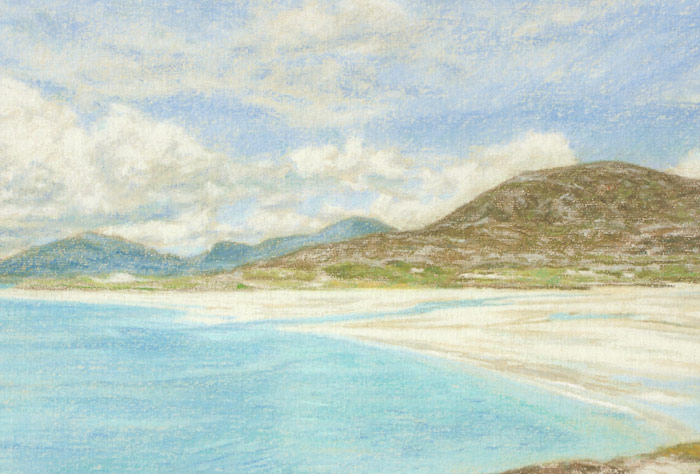 Detail of the beautiful Luskentyre Beach on Isle of Harris.