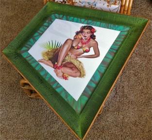 Hawaiian Print in XL Angular Frame
