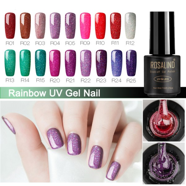 Nail Polish Gel 7ml Rainbow Vernis
