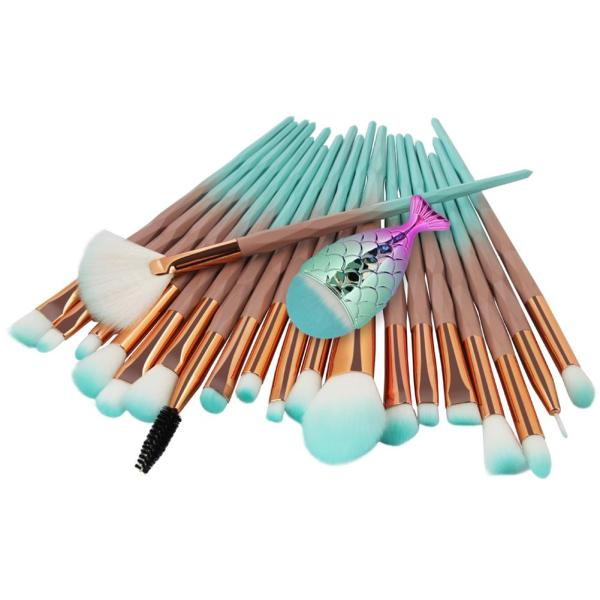 21 PCS Mermaid Makeup Brush Set