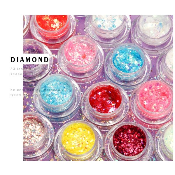 Eyes Sequins Glitters Party Makeup