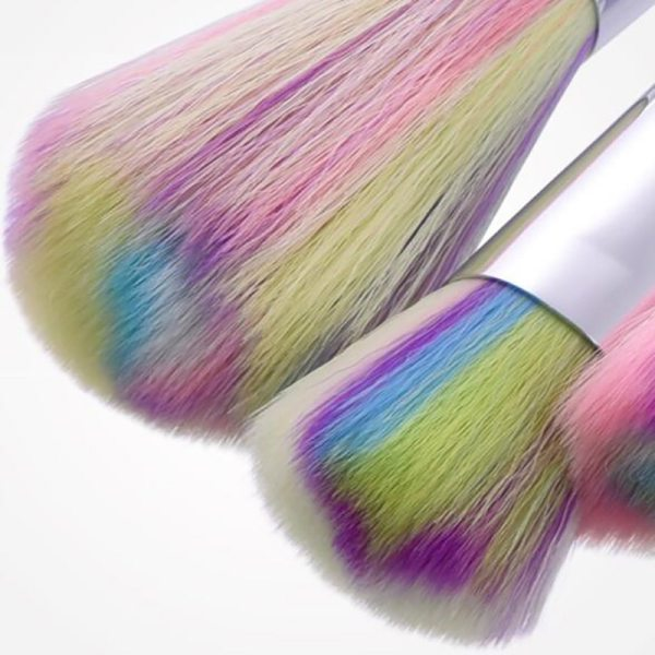Spiral White Handle Makeup Brushes