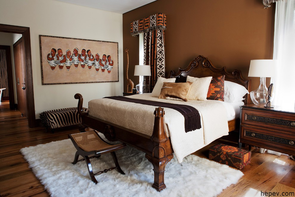african home deco bed room