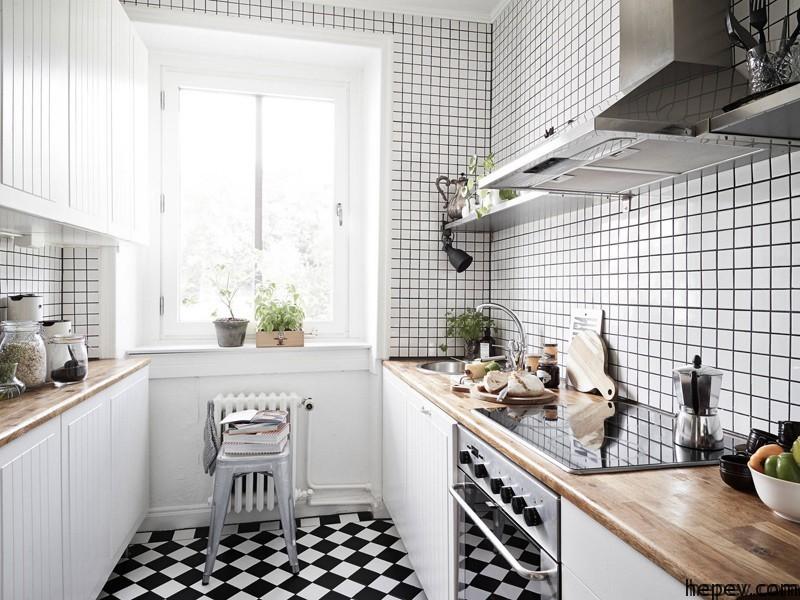 mutfak-fayans-siyah-beyaz