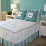 mavi ve turkuaz yatak odaları