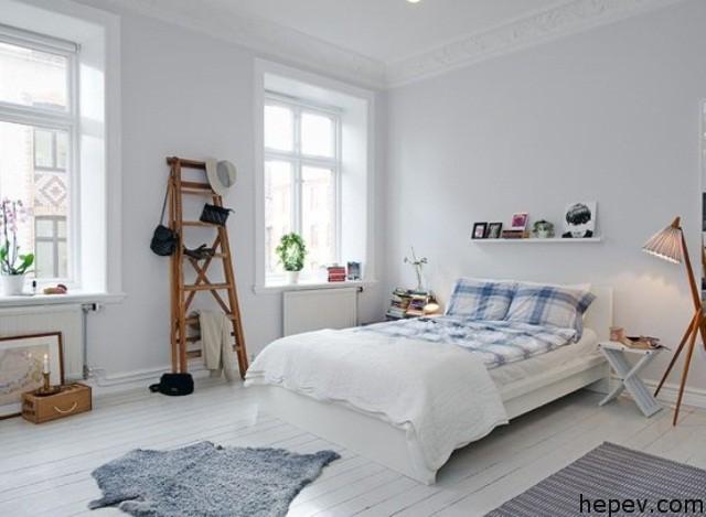 scandinavien bed room