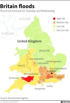 UK flood map