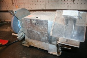 Bench grinder: Before