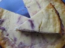 Improvised Black Currant Swirl Cheesecake