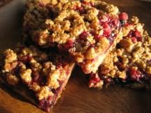 Whole-Wheat Berry Crumb Bars