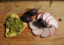 Homemade Ritz Cracker with tapenade from Provence