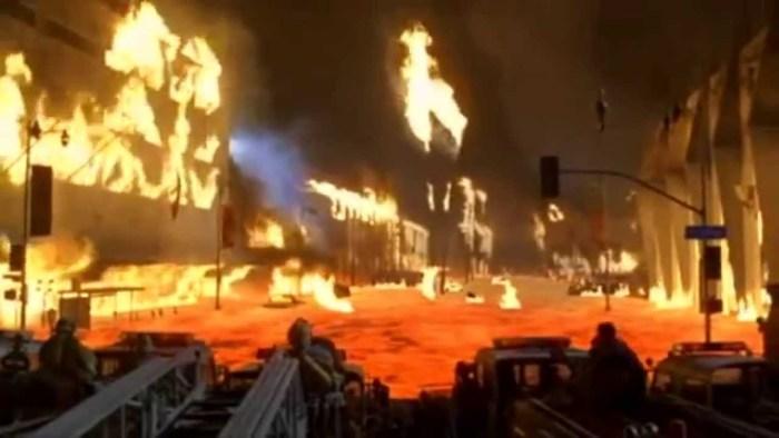 sinopsis volcano : kebakaran di mana-mana