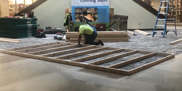 This week, Noblesville gets a construction barrier that will separate the staircase from the public.