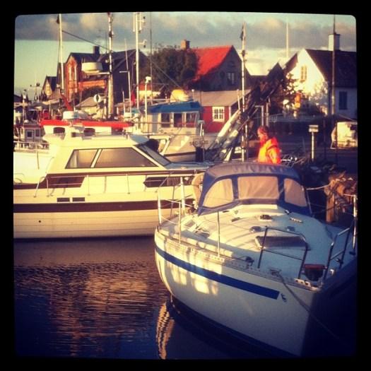 Båtlyft på Råå