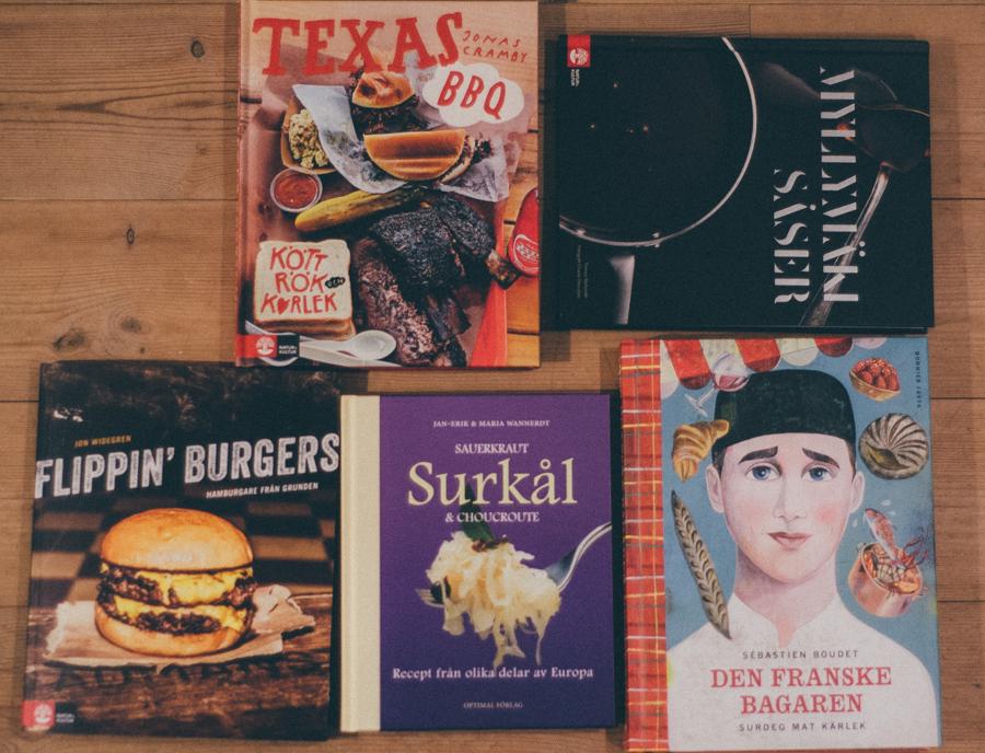 kokböcker på bokrean