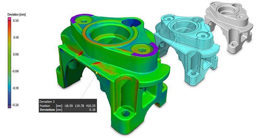 Soll - Ist - Vergleiche gegen CAD oder STL Modelle
