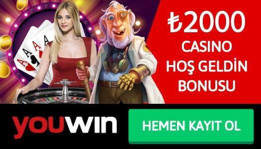 Youwin 2000 TL Casino Hoş Geldin Bonusu
