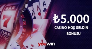 Youwin Casino Hoş Geldin