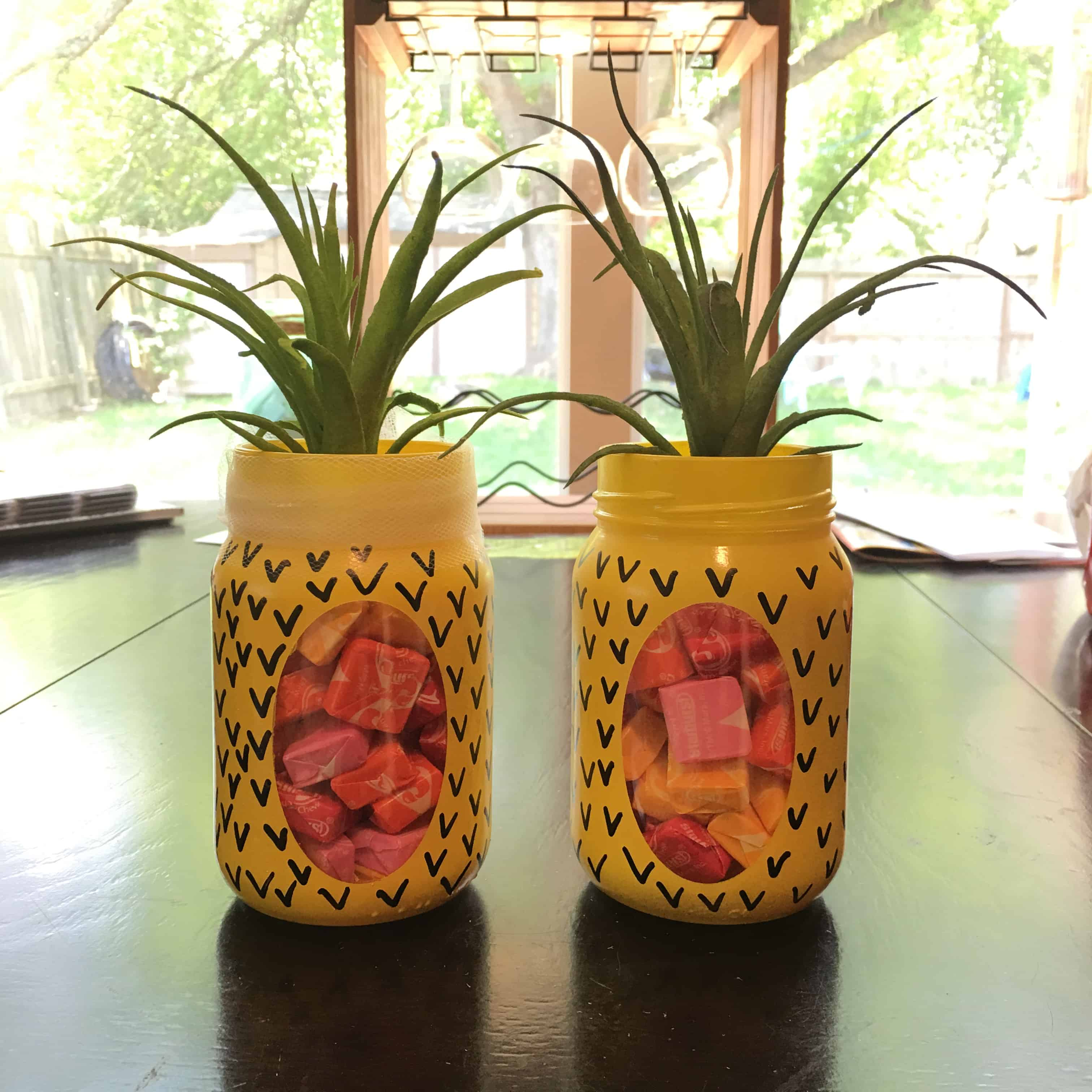 Back-to-School Pineapple Mason Jar Teacher Gifts