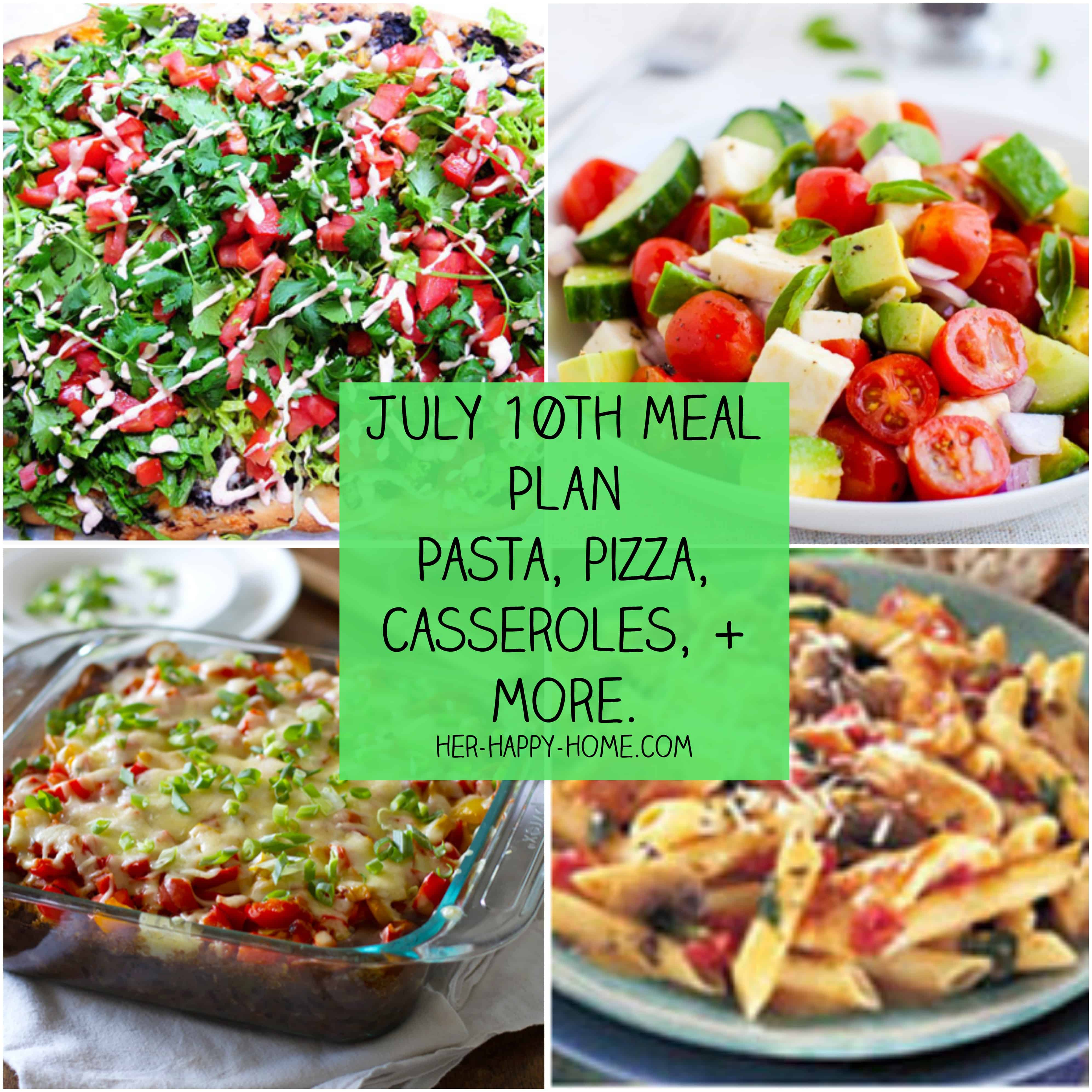 July 10th Meal Plan