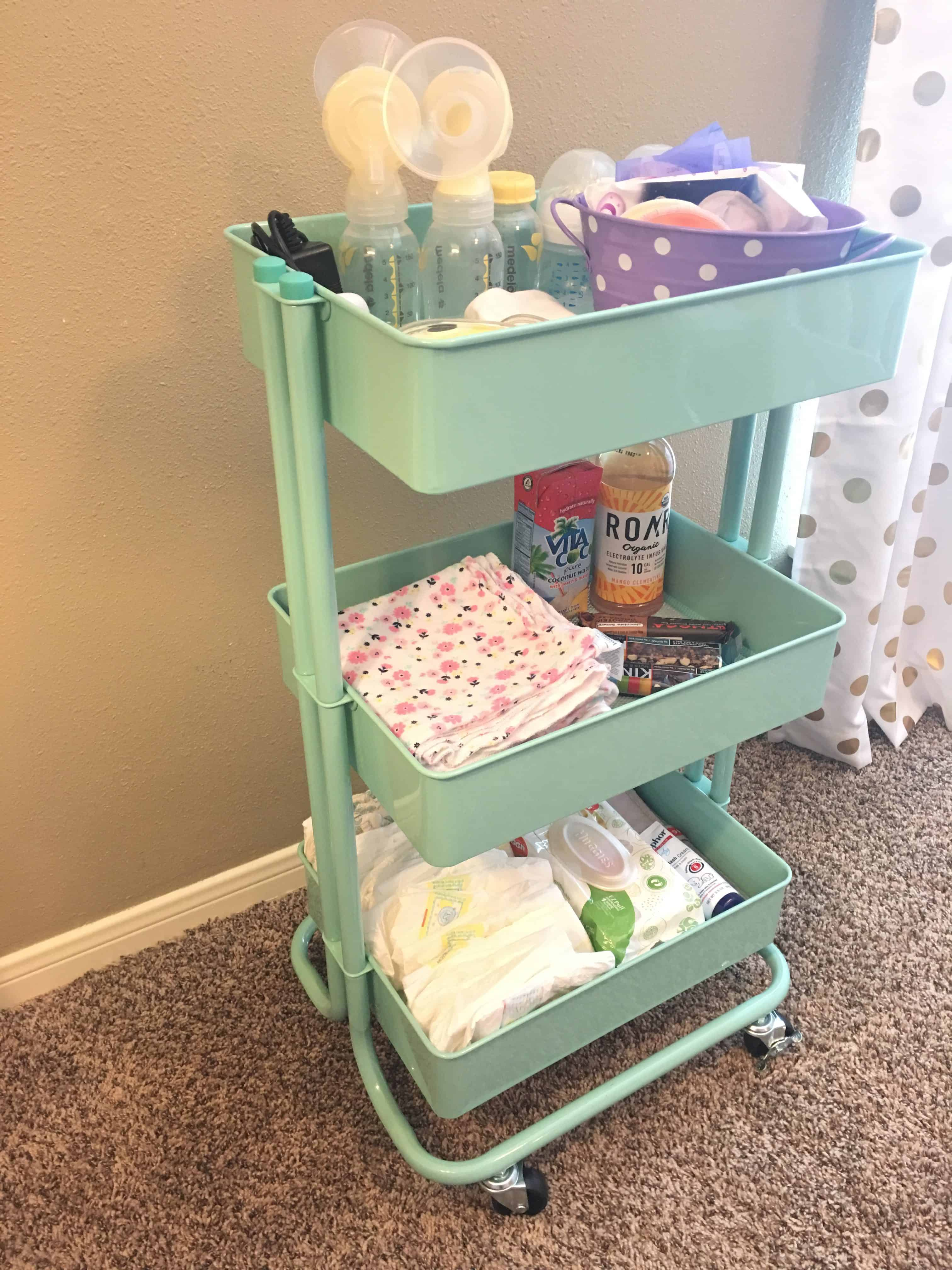 Breastfeeding and Pumping Cart