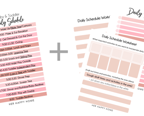 Baby & Toddler Daily Schedule (plus free worksheets and printables!)