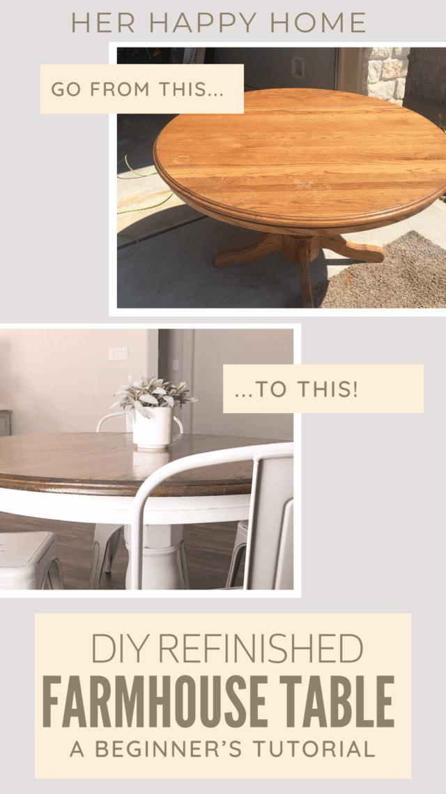 refinished farmhouse table