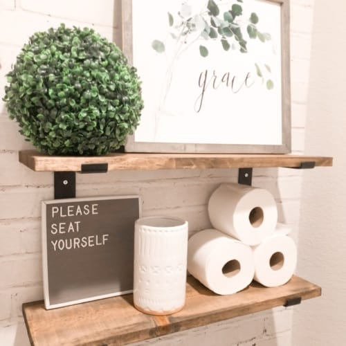Bathroom Refresh with Rocky Mountain Decals