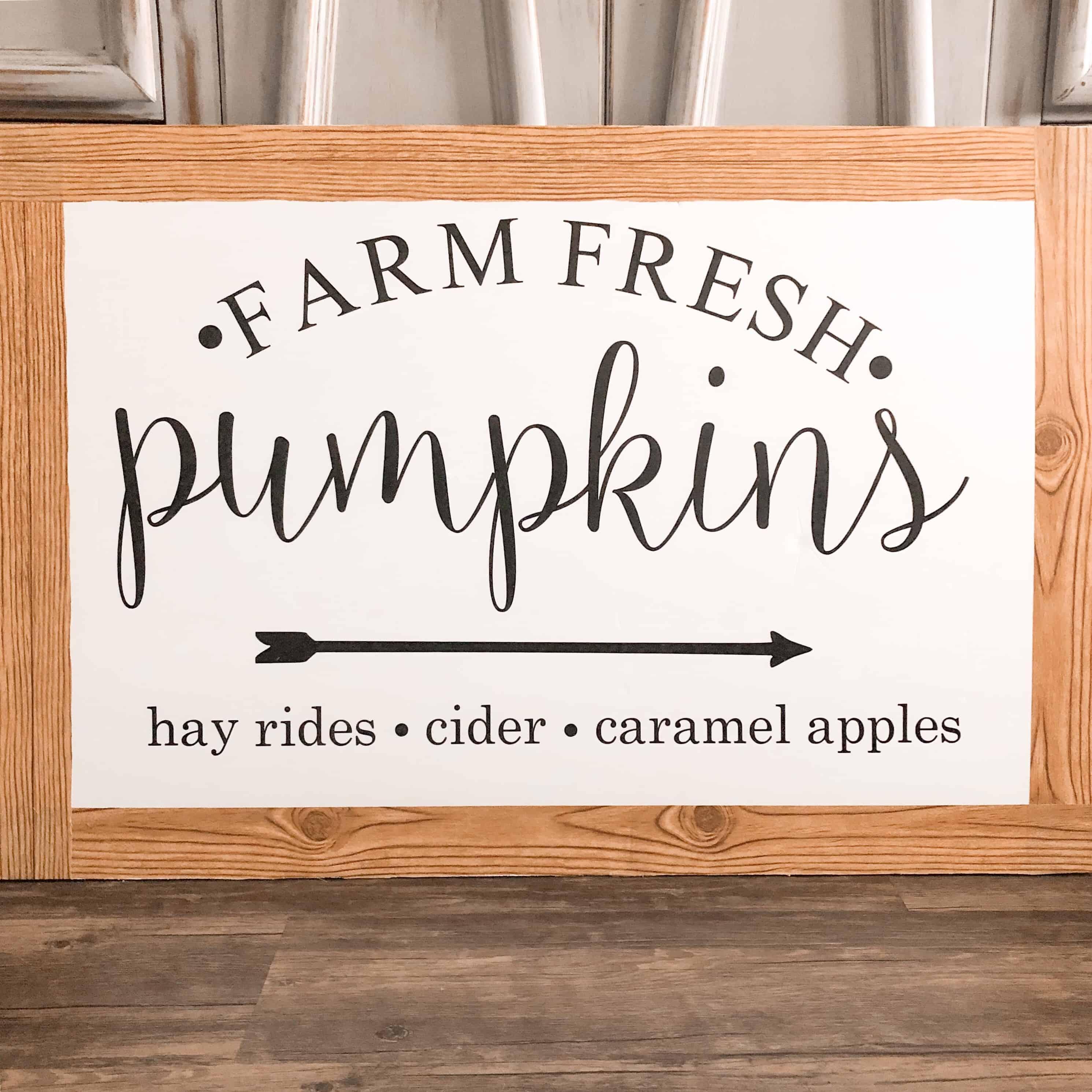 DIY Fall Series: $2 Fall Farmhouse Sign w/FREE Fall SVG File