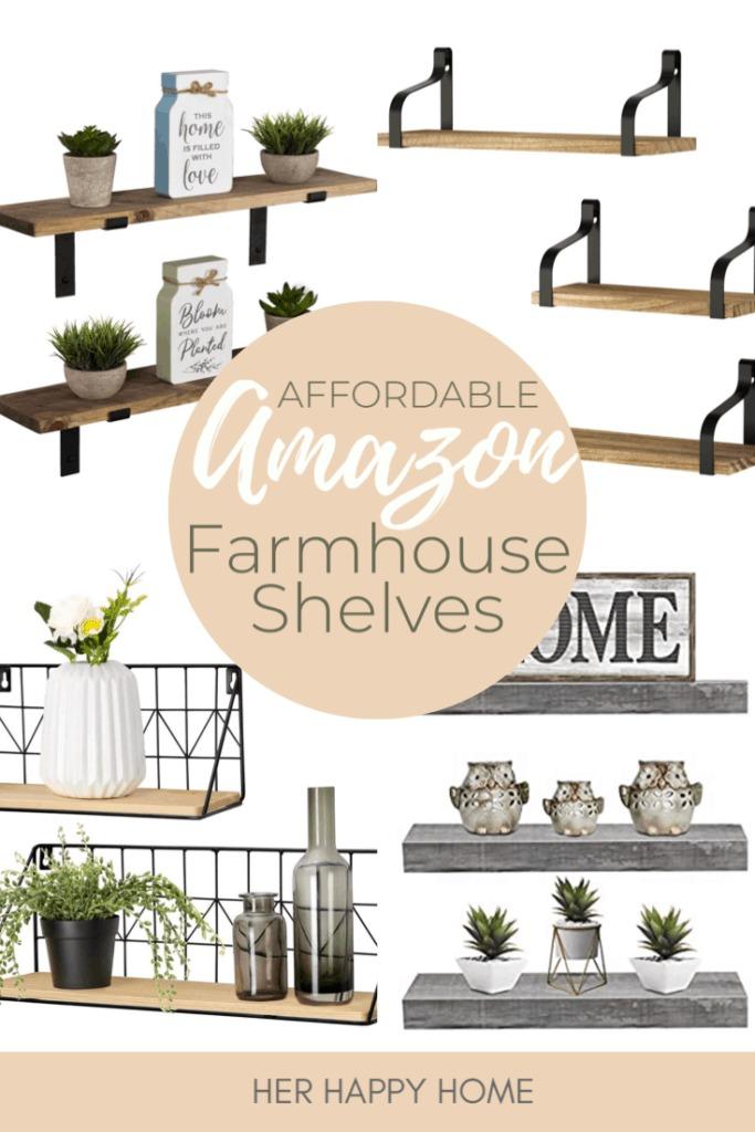modern farmhouse shelves