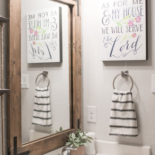 DIY Bathroom Mirror Frame (Without Removing Mirror Clips!)