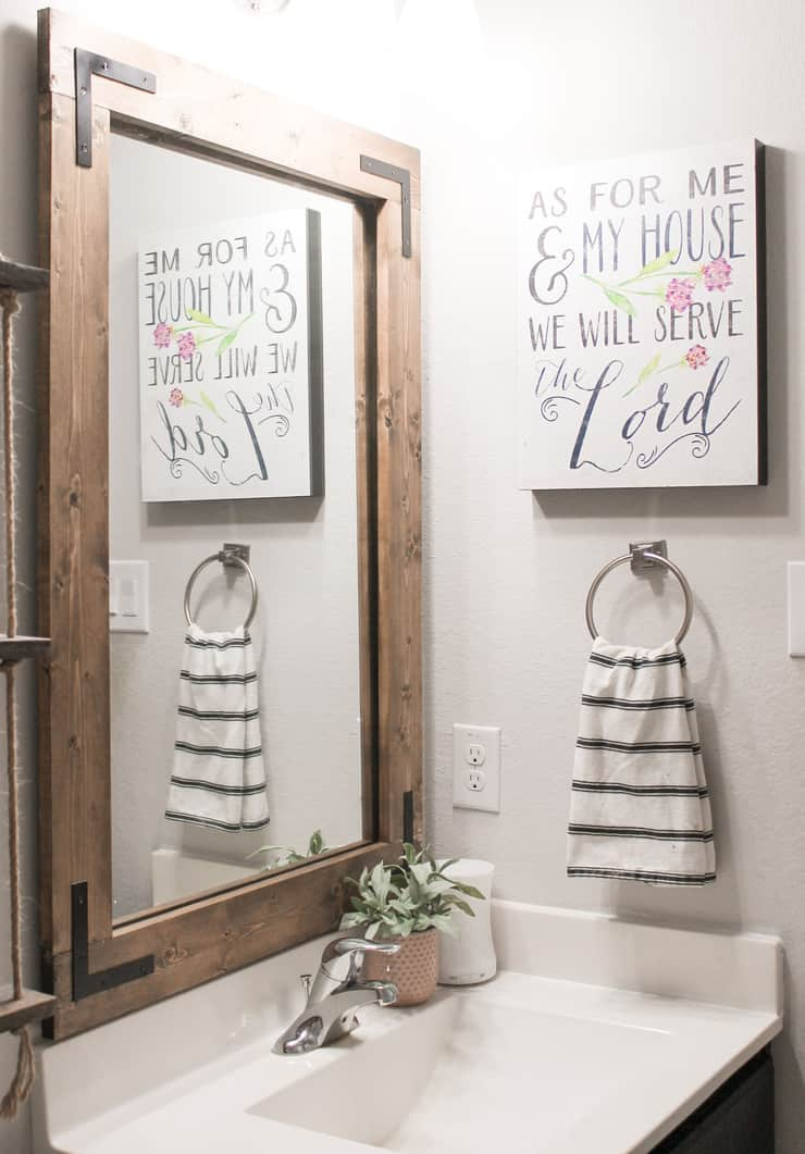 Diy Bathroom Mirror Frame Without, How To Remove A Bathroom Mirror That Has Clips