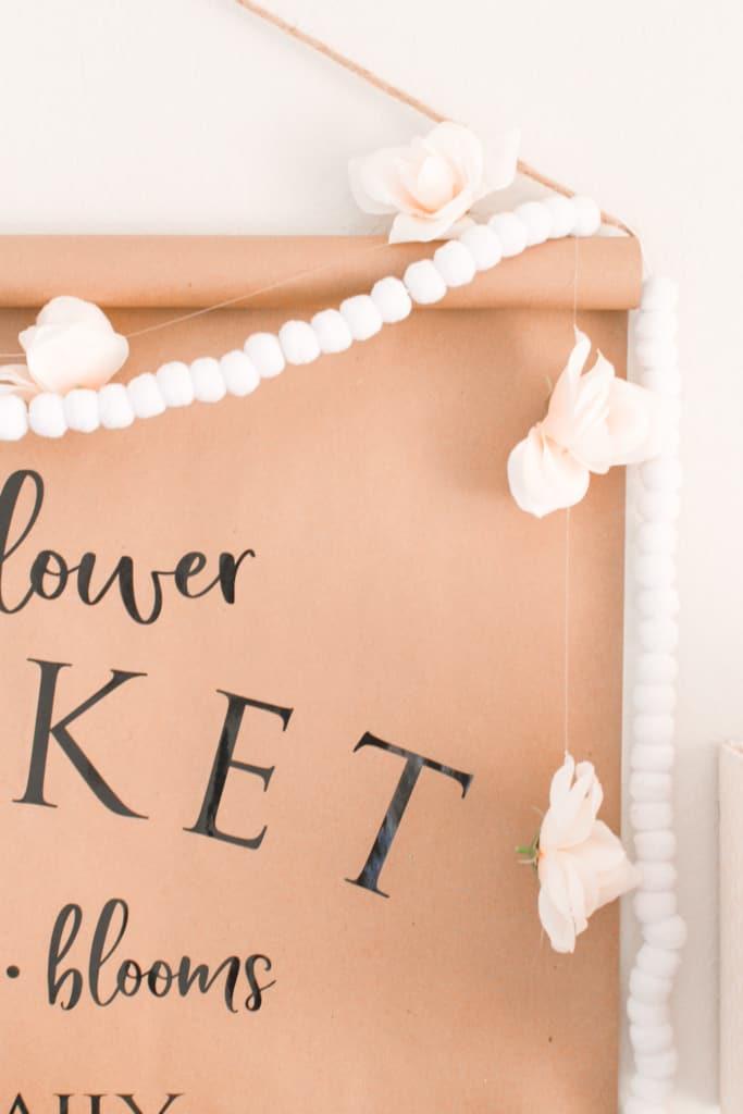 paper scroll wall decor