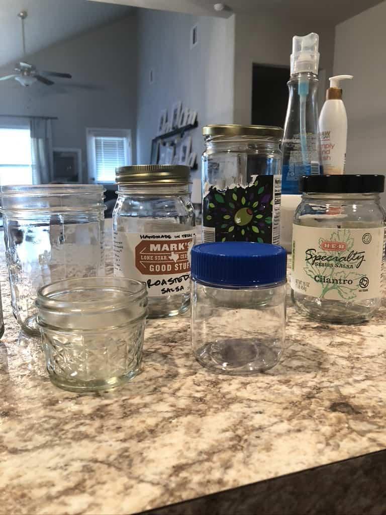 upcycled glass jars
