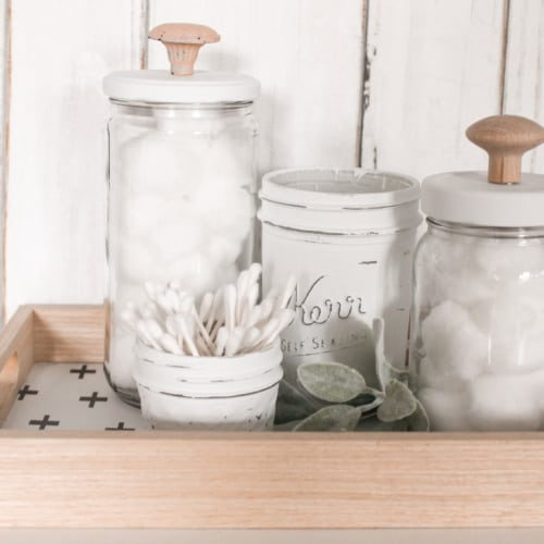 Easy DIY: Upcycled Glass Jars for Bathroom Storage
