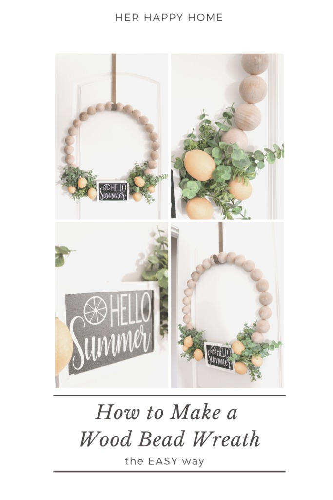 how to make a wood bead wreath
