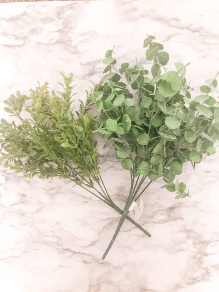 greenery for wood bead wreath