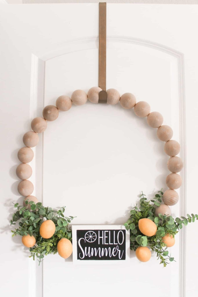 how to make a wooden bead wreath