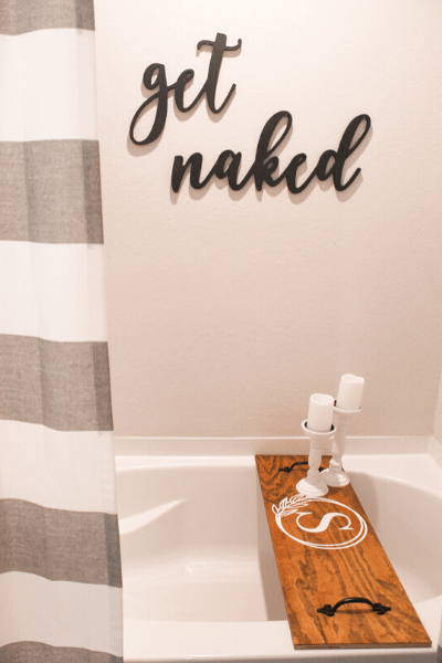 how to make a wooden bathtub tray