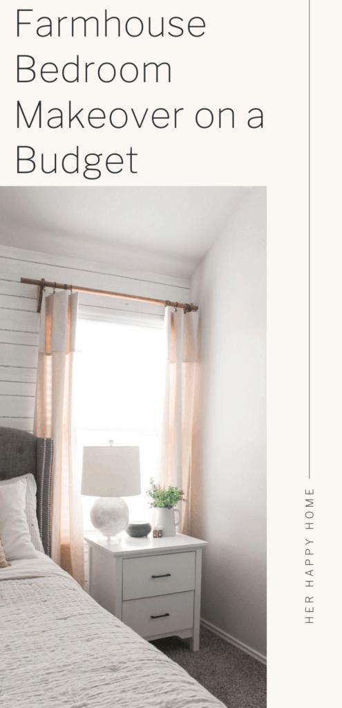 budget friendly farmhouse master bedroom
